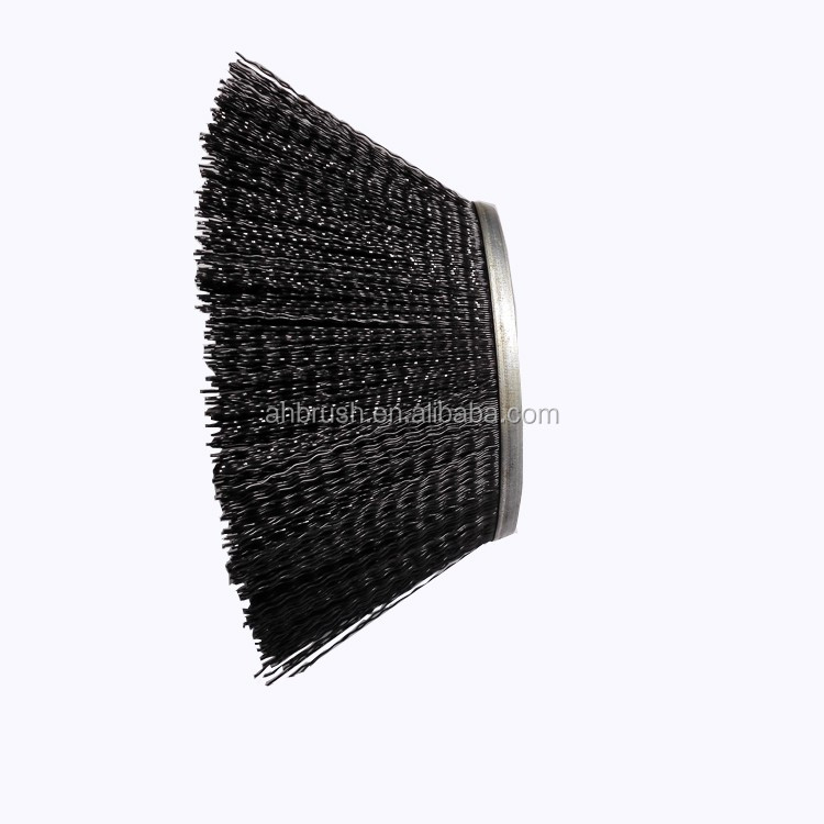 Sand blasting circular arc brush with high quality