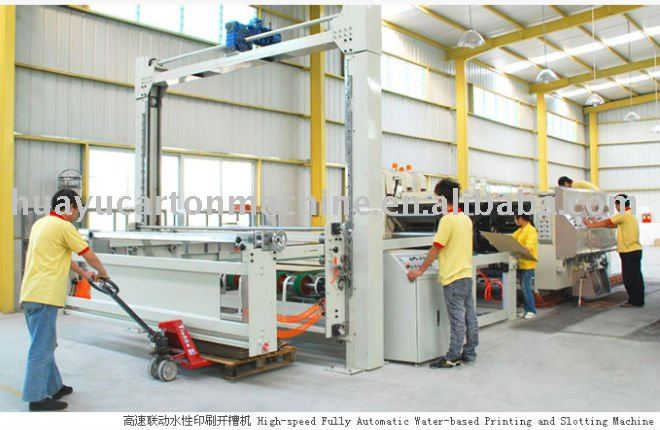 HY-DU series of high-level flexo printing and slotting die cutting machine(Vaccum model)