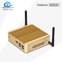 Cheapest HLY Fanless Office Computer Celeron N2830 Dual Core 2.16GHz 2G RAM 128G SSD Window 10 Support Build-in-Buletooth