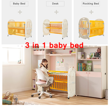 2017 Multifunction baby cots designs Union 3-in-1 Convertible Crib