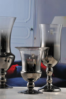 Hot sale glass hurricane candle holder with vase HR143