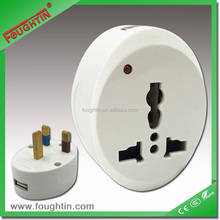 13A UK plug multi power socket with USB charger