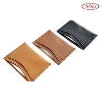 Promotional leather credit card holder case/business card holder/id card cover with cow leather