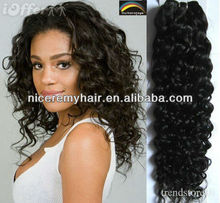 brazilian remy wavy human hair weft/ponytail hair extension for black women