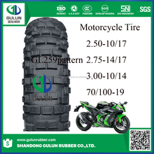 Popular China 275-17 250-17 70/90-17 motorcycle tire for sale