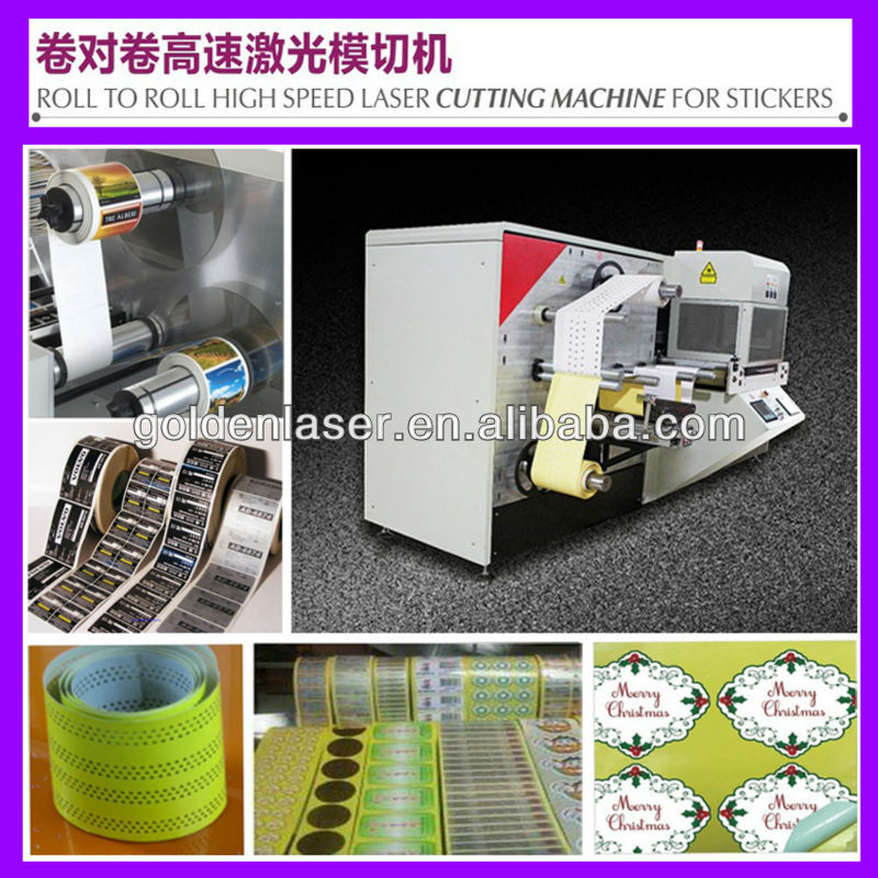 Printed Label Cutter Machine Laser with Roll to Roll Feeder