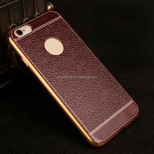 new arrival electroplating tpu+pu leather smart phone case cover for iphone 6 for iPhone 5