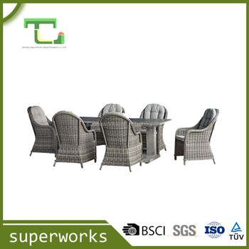 Classic Outdoor Aluminium Garden dining Set Garden Furniture Outdoor