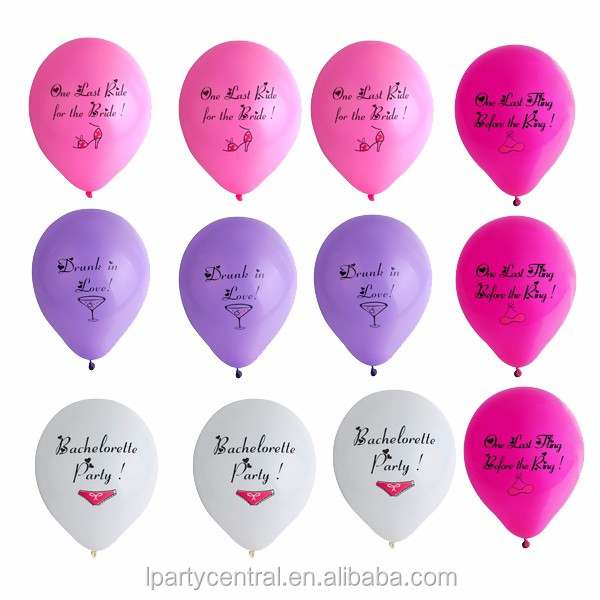 Girls Night Out Multi Color Bachelorette Party Balloon LP3129