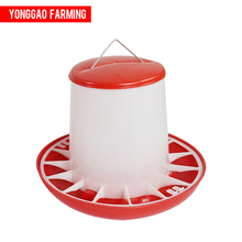 Poultry Farm Manual Plastic Broiler Duck Chick Feeder Pan Chicken Feeder