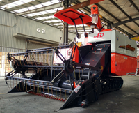 Full feed type small mini grain harvester combine