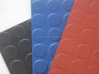 "Great Wall Elongation 200% 3 MPA Round Button Coin Studed Rubber Mat Abrasion Rubber Sheet 48"" Wide, 4' x 15' Roll"