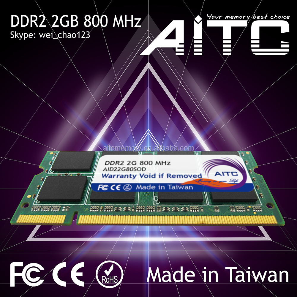 Best selling AITC ddr2 2gb 800mhz so dimm ram module for laptop memory