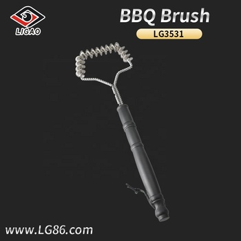 Easily-cleaned bbq brush with plastic handle