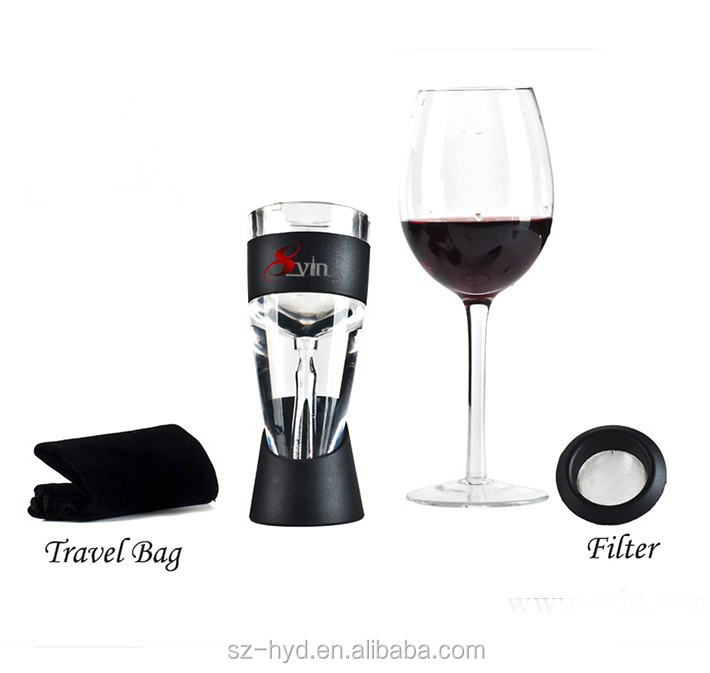 Bar accessories good tasting air pump wine aerator for party bar gathering