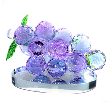 small size K9 crystal glass crystal fruit, chritsmas crystal grapes, clear&pink&blue crystal grapes
