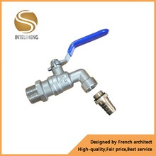 Forged Nickel Plated Brass Hose Bibcock Valve For Water Garden Lockable