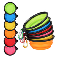 Premium food water feeding collapsible dog bowl, portable collapsible pet bowl with a free hook