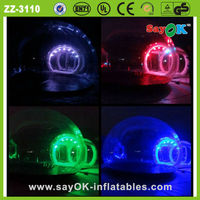 2014 wedding decoration and christmas decoration inflatable transparent tent with led light