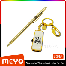Golden Design 256GB USB Flash Drive And Ballpoint Pen
