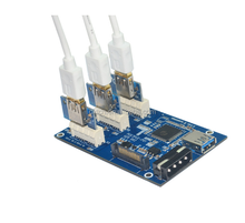 High quality PCIe 1 to external 3 PCI Express 1X Riser Card Mini ITX to 3 PCI-e Slot Adapter Card