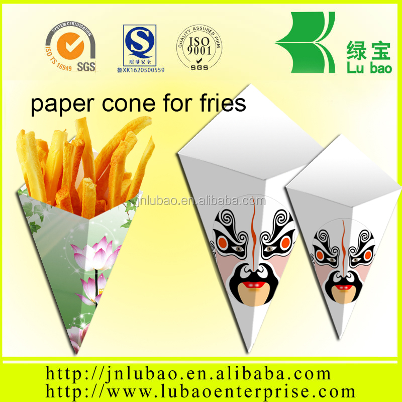 paper cone Food Product Type Frozen French Fries with package paper cone