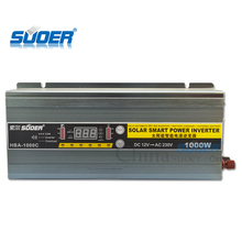 Suoer Digital Display Power Inverter with Charger 1000w Inverter 12V 220V
