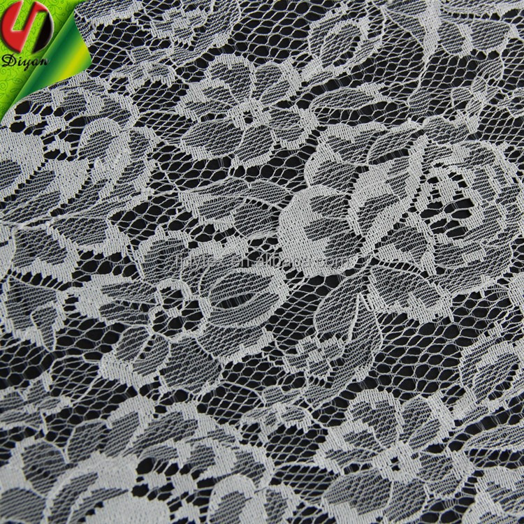 100% <strong>Nylon</strong> Lace Fabric for Wedding Dress 13024 Thin Section Lace