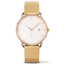 Vogue watches women stainless steel back custom watches with gold mesh straps