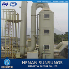Air scrubber / flue gas scrubber for laboratory acid fume removal