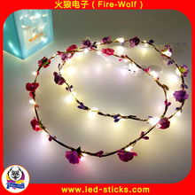 2017 China Manufacturer Well-Designed Hair Accessories Head Wear Garland Traveling Agent LED Flower Wreath