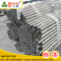 Scaffolding Or Handrailings Sus 201 Stainless Steel Twisted Pipe With Competitive Price