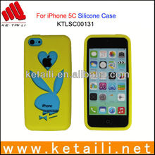 wholeslae scissor-cut rabbit silicone case for iphone 5c