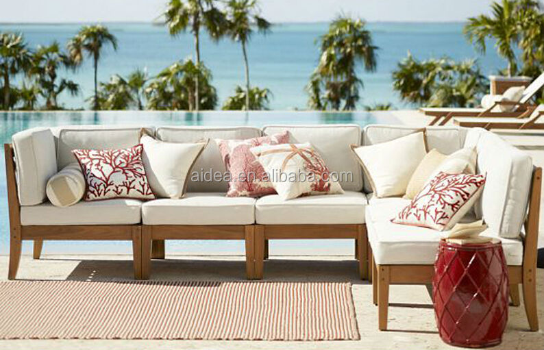 patio outdoor wooden sofa set designs