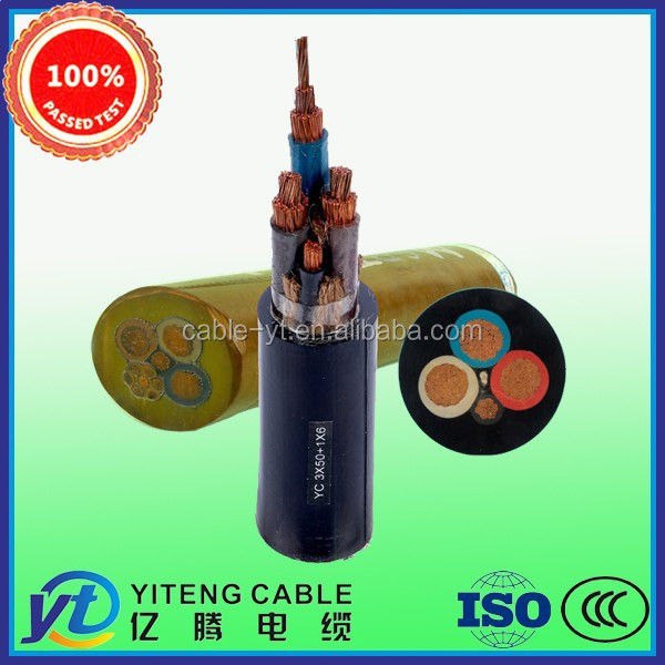Soft Coal Drill Mining Rubber Cable with Metalic Screen and Monitoring Cores