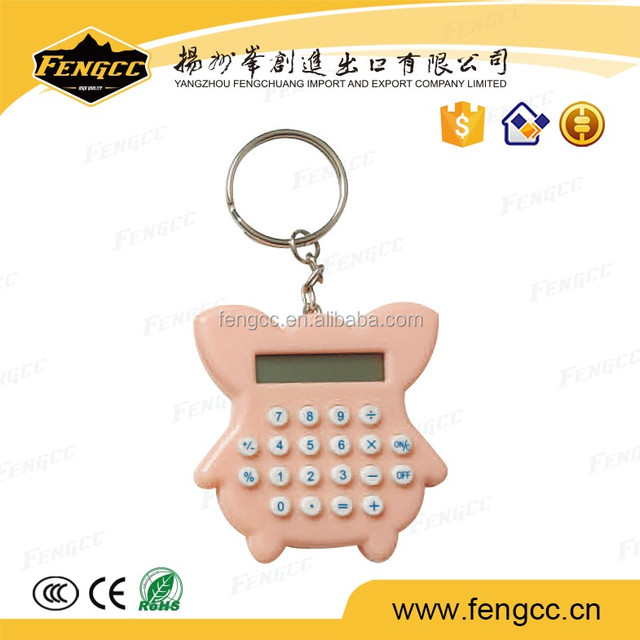 Unique christmas gift pocket calculator with keychain