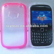 For Blackberry 9320 double injection TPU+PC phone cover case