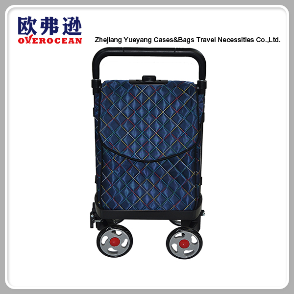 Hot sell foldable vegetable shopping trolley cute trolley bag