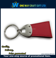 Promotion Cheap Blank Custom PU Leather Printing Key Fob
