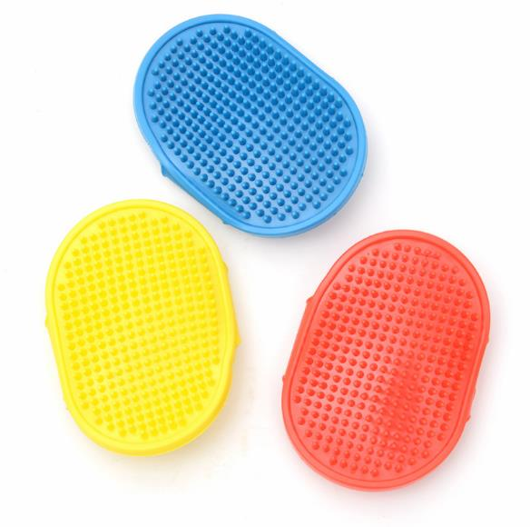 Round adjustable pet products dog cleaning grooming gloves pet bath massage brush