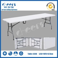 240cm 8ft Outdoor Easy Carrying Wedding Plastic Folding Table