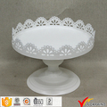 Lace Edge Vintage Round White Pedestal Cake Stand