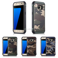 For Samsung Galaxy S7 Hard Strong Hybird Camouflage TPU PC Camo Case Pattern Back Cell Phone Case Cover