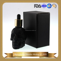 Trade assurance 30ml glass bottles with glass packaging for eliquid with gold child&tamper evident cap and corrugated box