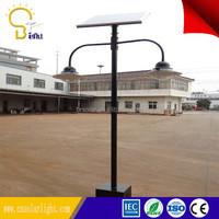 Cost-effective solar garden lighting pole light