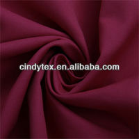 75d*21s red drapery waterproof poly cotton twill fabric