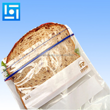 Custom logo printing super clear opp plastic bread bag for sandwich toast food packing