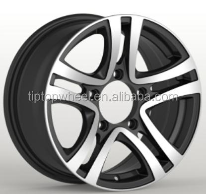 15X6.5 16X6.5 China wholesale wheel Guangzhou factory rim sliver maching face alloy wheel 4x100