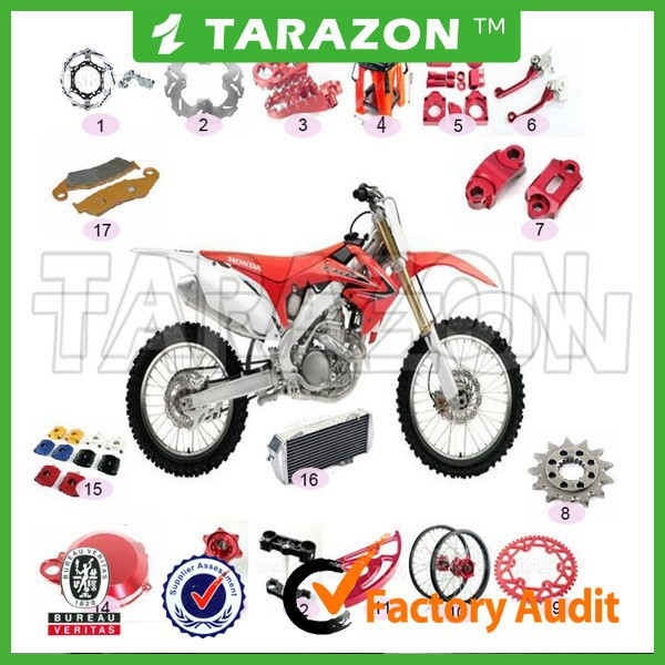 Factory wholesale CNC and Anodized motorcycle parts