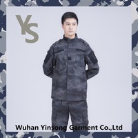 [wuhan YinSong] Fashion black ACU night camo acu military uniform